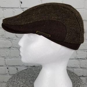 CROWNCAP   wool blend flat cap